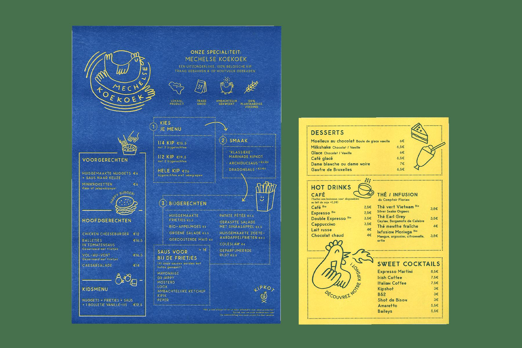 menu kipkot